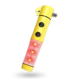 5 в 1 многофункциональный автомобиль светодиодный фонарик ремень резак безопасности молоток побег аварийный инструмент с SOS света Магнит от