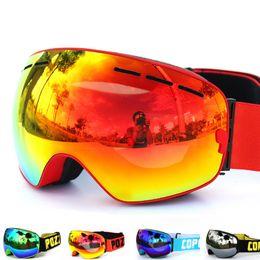 Wholesale Men Snowboard Goggles - New COPOZZ brand ski goggles double layers UV400 anti-fog big ski mask glasses skiing men women snow snowboard goggles GOG-201