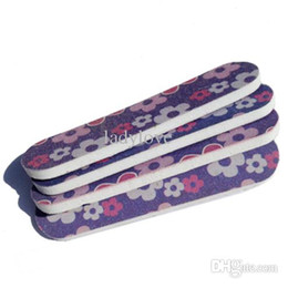 Wholesale emery file - 50pcs Mixed Design Professional decorative Nail Files 6*1.5CM Buffer Buffing GIRLIE MINI EMERY BOARDS Free shipping