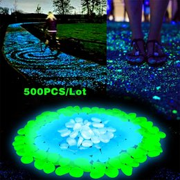Wholesale Glow Pebbles Wholesale - 500pcs Lot Glow in the Dark Garden Pebbles for Walkways & Decor and Plants Luminous Stones Creative