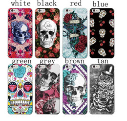 Wholesale Wholesalers For Rockabilly - Rockabilly Pink Rose Skull Pattern Soft TPU Phone Case Coque for iPhone 7 7Plus 6S 6Plus 5 5S SE 5C 4 4S SAMSUNG