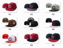 Wholesale Design Snapbacks - Newest Arrival 2017 Wholesale-Men's Cincinnati Reds sport team fitted cap two tone full closed design baseball hat in black light gray