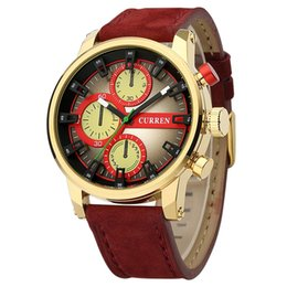 Wholesale Water Curren - Curren Men Fashion Sports Brand Luxury Leather Strap Analog Quartz Watch Casual Wristwatch