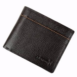 Wholesale Playboy Fashion - High Quality Playboy Business Bifold Cowhide Genuine Leather Wallet Purse Money Credit Card Ticket Holder Luxury Brand Men Clutch Coin Bag