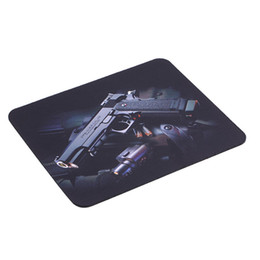 Wholesale Laser Gun Wholesale - new Gun Picture Anti-Slip Laptop PC gaming Mice Pad Mat Mousepad For Optical Laser Mouse Wholesale