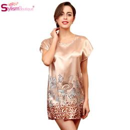 Wholesale Home Sexy Woman Robe - 2016 Summer Women Night Dress Sleepwear Nightgown Sarafan Nightie Robe Waistband Home Clothes Nightdress Chemise De Nuit