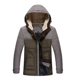 Wholesale Shell Duck - Wholesale- Men Brand Clothing Patchwork Designs Popular New Jacket Soft Shell Windproof men's thick all-match warm winter down coat parka
