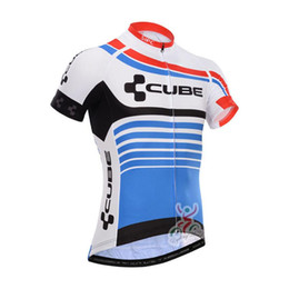 Wholesale team cube cycling jerseys - CUBE team Summer Cycling Jersey bicycle maillot short sleeve shirt Ropa Ciclismo Breathable Bike Clothing Quick-Dry mtb Sportswear A1603