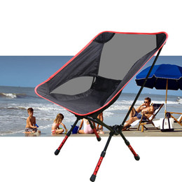 Wholesale Portable Beach Chairs - Wholesale- NEW Hot Portable Light weight Folding Camping Stool Chair Seat For Fishing Festival Picnic BBQ Beach With Bag Red Orange Blue