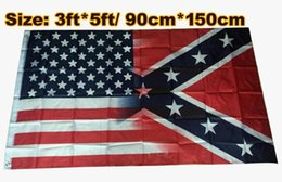 Wholesale civil flag - NEW 90*150cm American Flag with Confederate Rebel Civil War Flag new style hot sell 3x5 Foot Flag