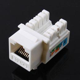 Ethernet cat5 онлайн-Cat5E 110 Punch Down Keystone Jack RJ45 8P8C CAT5 Сетевой адаптер для адаптера Ethernet в белом исполнении