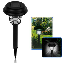 Wholesale Solar Mosquito Killer Lamp - New UV LED Solar Powered Killer Trapping Lantern Lamp Anti Mosquito Insect Pest Bug Zapper Outdoor Yard Garden Lawn Light