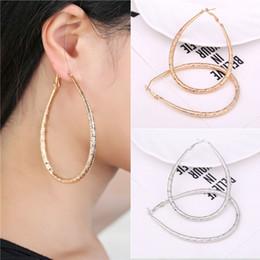 Wholesale Large Loop Earrings - 2017 New fashion Eearring Loop Big Large pipe Circle Creole Hoop Earring For Women Girls Fashion Jewelry Pendientes Aros Gift