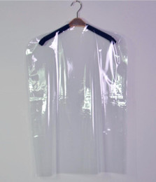 Wholesale Transparent Plastic Type - Plastic Transparent Clothes Suit Garment Dustproof Cover Hanging Storage Bag New