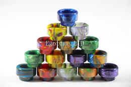 Wholesale Av Packaging - individual package Resin 528 Drip Tip goon Wide Bore Drip tips Mouthpiece for Kennedy 528 AV Battle RDA Tank Atomizers Mouthpiece