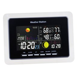 Wholesale Wireless Weather - WS-104-EU_3S Wireless Weather Station DCF RCC + 3 Sensor with LED Backlight 220V Only