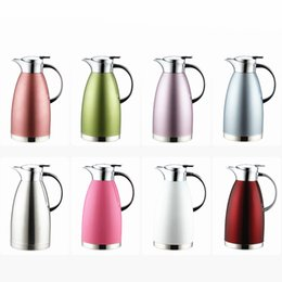 Wholesale Steel Vacuum Coffee Pot - 1.8L Stainless Steel Coffee Pot Home Vacuum Insulation Water Bottle - Hot and cold dual use