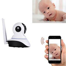 alarme du capteur sans fil extérieur Promotion Caméra sans fil 720p HD ip caméra wifi 802.11b / g P2P réseau IR caméra de sécurité extérieure étanche travail avec capteur d'alarme