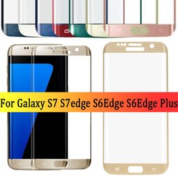 Wholesale Tempered Screen Protector Samsung S6 Full - bluk sale full cover S6 edge s6edge plus s7 s7 edge 3d curved tempered glass phone screen protector glass film for samsung galaxy
