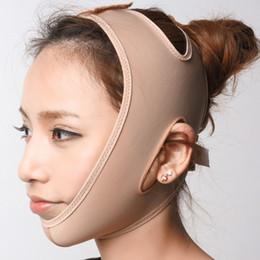 Wholesale chin lift - Face V Shaper Facial Slimming Bandage Relaxation Lift Up Belt Shape Lift Reduce Double Chin Face Mask Face Thining Band Massage