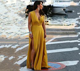 Wholesale Low Cut Maxi Party Dresses - women dress plus size XL-5XL summer dress low-cut split sleeveless long floor-length evening dress suit maxi dresses sexy party wedding