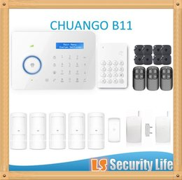 Wholesale Alarm Wireless Dual Network - Hot selling B11 Chuango Dual network PSTN and GSM burglar Security Alarm System CGP420kit