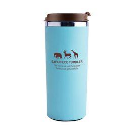 Wholesale Green Tea Portable Cups - 380ml Coffee Mug Stainless Steel Tea Milk Water Bottle Giraffe Mugs Hot Insulation Cups Portable Drinkware