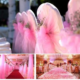 Wholesale Tutu Table Centerpieces - 25Yards 6inch Tulle Roll Spool Tutu Organza Gauze Element Table Runner Mariage Pom Wedding Birthday Decoration Gift Bow