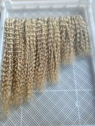 Wholesale Blonde Brazilian Curly Hair Weaving - Brazilian Blonde Deep Wave Brazilian Virgin Hair Bundles #613 Bleach Blonde Deep Curly Human Hair Weaves 7A Blonde Hair Extensions