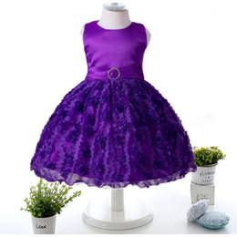 Wholesale Toddler Holiday Pageant Dress - Baby Kids Clothing Summer Flower Girls' Dresses princess cute toddler holiday party Ball Gown pageant dress TuTu skirt tulle gowns Sundress