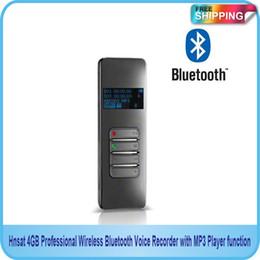 Enregistreur vocal bluetooth sans fil en Ligne-Livraison gratuite en gros !! NOUVEAU enregistreur vocal sans fil Bluetooth professionnel 4 Go avec fonction lecteur MP3