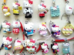 Wholesale Unisex Strap Toys - lovely Hellokitty Cell Mobile Phone &bag charms straps
