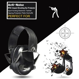 Wholesale Electronic Hearing - 100pcs lot Anti-noise Impact Sport Hunting Electronic Tactical Earmuff Shooting Ear Protectors Hearing Protection Peltor Earmuffs