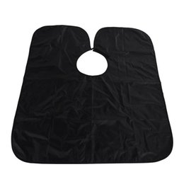 Wholesale Plastic Aprons - cape classics New Arrival Short Salon Hairdressing Apron Wrap Black Hair Cutting Gown Cape For Barber Hair Styling Cloth