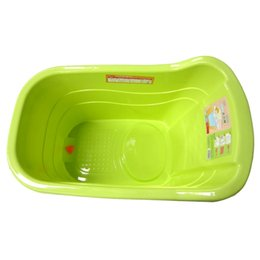 Wholesale Plastic Basin Tub - New plastic kids tub Children's tub bath basin for 0-3 years old Baby green and blue colors can be selected