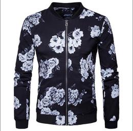 Wholesale Jaqueta Baseball Masculina - Hot Sale New Spring Bomber Jacket Fashion Men Baseball Jacket Print Sleeve Casual Coats Veste Homme Jaqueta Masculina