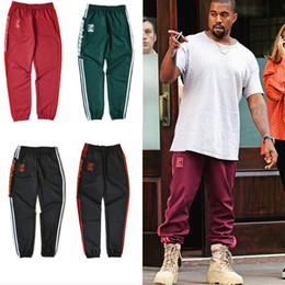 Wholesale Pants For Exercise - Kanye West Unisex Jogger Pant Red SEASON 4 Star Pants For Jogging Exercise and Fitness For Man Woman