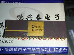 EF6821CV, Vintage microprocessor Collectible. 40 cp Gold 6821 ancien processeur, processeur EF6821 / composant électronique THOMSON. IC ? partir de fabricateur