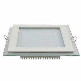 Wholesale Panel Light Round - Cree LED Down Lights Recessed glass Downlight Round Square led ceiling panel light Cool Warm white LED lighting AC100-240V CE SAA