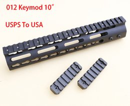 "Wholesale Mount Rifle Rail - Slim Style 10"" 12"" 15"" AR15 Free Float Keymod Handguard Picatinny Rail for Hunting Tactical Rifle Scope Mount"