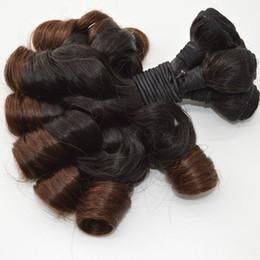 Wholesale Ombre Funmi Hair - Brazilian Virgin Hair Bundles Ombre Color Aunty Funmi Hair 3 pcs 100% Human Hair DHL Free FDSHINE
