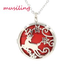 Wholesale Wholesale Deer Jewelry - Openwork Sika Deer Locket Pendants Natural Gem Stone Pendant Turquoise Lapis Lazuli etc Stone Bead Charms Fashion Jewelry for Women