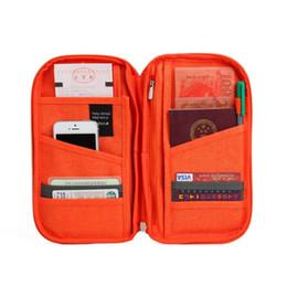 billetera de identificación de entradas Rebajas Marca Travel Passport ID Card Storage Organizador Cartera Mujeres Hombres Viaje Documento Ticket Holder Package Cotton Linen Clutch Bag Cash Purse