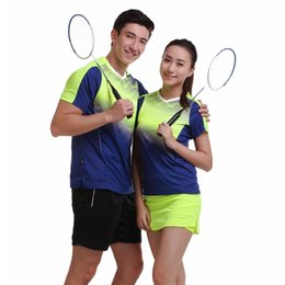 Wholesale Jersey Badminton New - New badminton clothing clothing (jersey shirt + shorts   skirt) summer quick dry sport shirt men   women tennis clothes free shipping