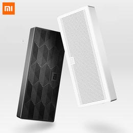 2019 xiaomi мини-квадрат box bluetooth speaker Wholesale- Original Xiaomi Mi Bluetooth Speaker Portable Wireless Mini Square Box Speaker for IPhone and Android Phones дешево xiaomi мини-квадрат box bluetooth speaker