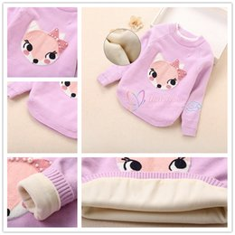 Wholesale Wool Sweaters For Kids - Wholesale Girls Pullover Fox Sweater 3 colors Korean Style Kids Sweaters for girls Children Wool Clothing Girls Cardigans LA331