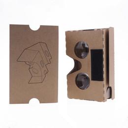 DIY Google VR Cartón 2.0 V2 Gafas VR cajas de papel Realidad virtual 3D Visualización de google II Gafas para iphone x 8 plus se Samsung S9 plus desde fabricantes