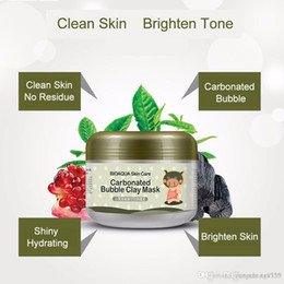 Wholesale Acne Care - BIOAQUA pig carbonated bubble clay Mask 100g remove black head acne Shrink pores face care facial sleep mask Free shopping