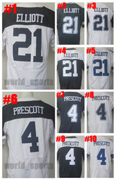 Wholesale Elite Stitch Football Jerseys - Men Women Youth 4 Dak Prescott 21 Ezekiel Elliott Blue White Throwback Thanksgiving Football Jerseys Elite Stitched Jerseys