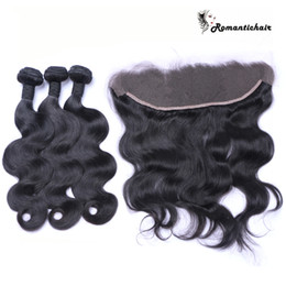 Wholesale Baby Bulk - Great quality lace frontal with baby hair 13x4 full ear to ear brazilian lace frontal closure brazilian body wave frontal hair piece